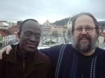Jiří Lang a dr.Phanuel Osweto, duchovní CČSH v Keni